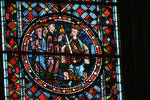 Sens Cathedral, St. Etienne (St. Stephen), Choir, window A, Infancy Cycle Window, 13th century, Gothic, stained glass, France.