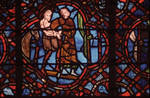 Rouen Cathedral, St. Julian the Hospitaller window, north side of the choir,  c. 1220-1230, Gothic stained glass, France.