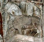 Santa Maria de la Corticela, 11th century, tympanum of the portal