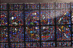 Rouen Cathedral, Joseph window, apse, window 17, section 3, c. 1220-1230, Gothic stained glass, France.