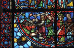 Rouen Cathedral, apse, window 24, c. 1220-1230, Gothic stained glass, France