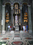 Aachen Cathedral, gallery, near Charlemagne's throne by Asa Mittman
