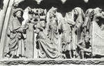 Leon Cathedral, Church of Santa Maria, Leon, Spain, detail of central portal tympanum