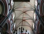 Evangelische Peterskirche, Romanesque elevations, Gothic vaults, Bacherach, Rhineland, c. 1230/40, with 15th century renovations