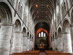 Hereford Cathedral, Nave, 1079-16th century, Romanesque Style, Hereford, England