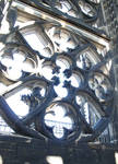 Cologne (Koln) Cathedral of St. Peter and St. Mary, detail of interior tower tracery, High Gothic, Cologne, Germany