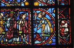 Rouen Cathedral, apse, window 24, section 4, c. 1220-1230, Gothic stained glass, France
