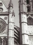 Leon Cathedral, Church of Santa Maria, Leon, Spain, nave buttresses and south tower