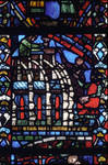 Rouen Cathedral, Joseph Window, apse, window 17, . 1220-1230, Gothic stained glass, France.