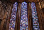 Ely Cathedral, lancet windows in the presbytery
