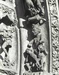 Leon Cathedral, Church of Santa Maria, Leon, Spain, detail of central tympanum