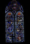 Sens Cathedral, St. Etienne (St. Stephen), Choir, Window B, Passion Cycle Window, 13th century, Gothic, stained glass, France.