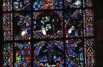 Rouen Cathedral, Joseph window, apse, window 16, section 5, c. 1220-1230, Gothic stained glass, France.