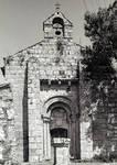 Mosteiro (monastery), west facade, c. 1100, Romanesque, Meis, Salnes area of Pontevedra Province, Galicia, Spain