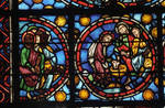Rouen Cathedral, apse, window 24, section 2, c. 1220-1230, Gothic stained glass, France