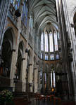 Cologne (Koln) Cathedral of St. Peter and St. Mary, view of choir interior, High Gothic, Cologne, Germany