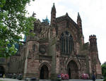 Hereford Cathedral, West facade, 1079-16th century, /Early English Style, Hereford, England