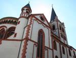Evangelische Peterskirche, detail of transept (exterior), Bacherach, Rhineland, c. 1230/40, with 15th century renovations