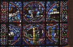 Rouen Cathedral, Joseph window, apse, window 16, section 2, c. 1220-1230, Gothic stained glass, France.