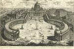 Veduta dell insigne Basilica Vaticana coll' ampio Portico e Piazza adjecente