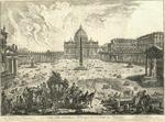 Veduta della Basilica, e Piazza di S. Pietro in Vaticano