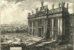Veduta della Facciata della Basilica di S. Giovanni Laterano.