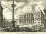 Veduta della Basilica di Santa Maria Maggiore con le due Fabbriche laterali di detta Basilica. La Facciata di mezzo Architettura del Car. Ferdinando Fuga.