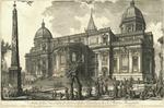 Veduta della Facciata di dietro della Basilica di S. Maria Maggiore by Giovanni Battista Piranesi