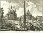 Veduta della Piazza del Popolo by Giovanni Battista Piranesi
