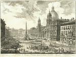 Veduta di Piazza Navona sopra le rovine del Circo Agonale by Giovanni Battista Piranesi