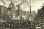 Veduta di Piazza Navona sopra le rovine del Circo Agonale