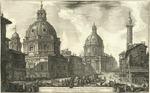 Veduta della due Chiese, l'una detta della Madonna di Loreto l'altra del Nome di Maria presso la Colonna Trajana 4. Salita al monte Quirinale