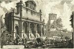 Veduta del Castello dell' Acqua Paola sul Monte Aureo