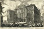 Veduta sul Monte Quirinale del Palazzo dell'Eccellentissima Casa Barberini, Architettura del Cav. Bernino