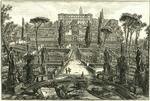 Veduta della Villa Estnse in Tivoli