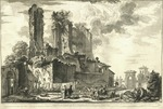 Veduta dell'avanzo del Castello, che predendo una porzione dell'Acqua Giulia dal Condotto principale by Giovanni Battista Piranesi