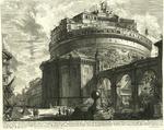 Veduta del Mausoleo d'Elio Adriano (ora chiamato Castello S. Angelo) nella parte opposta alla Facciata dentro al Castello. by Giovanni Battista Piranesi