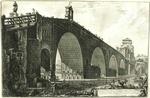Veduta del Ponte Molle sul Tevere due miglia lontan da Roma