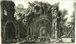 Veduta della fonte e delle Spelonche d'Egeria fuor della porta Capena or di S.Sebastiano