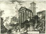 Veduta del Tempio di CErcole nella Citta di Cora, dieci miglia lontano da Velletri