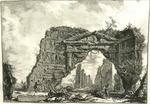 Avanzi d'un portico coperto, e criptoportico in una villa di Domiziano cinque miglia lontan da Roma su la via di Frascati by Giovanni Battista Piranesi