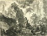 Presso l'autore a Strada Felice nel palazzo Tomati vicino alla Trinita de monti; Piranesi inuento incise in Roma by Giovanni Battista Piranesi