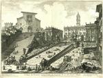 Veduta del Romano Campidoglio con Scalinata che va alla Chiesa d'Araceli [View of the Roman Capitol with a Staircase that goes to the Church of Araceli