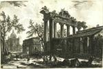 Altra Veduta degli avanzi del Pronao del Tempio della Concordia [Another view of the pronapse of the Temple of Peace) from Vedute di Roma]