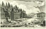 Veduta del Sito, ou'era l'antico Foro Romano. [View of the Site where the Ancient Roman Forum was]