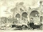 Veduta degli Avanzi del Tablino della Casa Aurea di Nerone, detti Volgarmente il Tempio della Pace by Giovanni Battista Piranesi