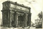 Veduta dell'Arco di Settimio Severo [View of the Arch of Septimius Severus]