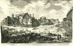 Veduta degli avanzi superiori delle Terme di Diocleziano