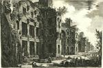 Veduta degli avanzi superiori delle Terme di Diocleziano a S. Maria degli Angeli [View of the Remains of the Baths of Diocletian in Santa Maria of the Angels]