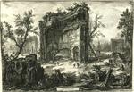 Veduta degli Avanzi delle Fabbriche del Secondo Piano delle Terme di Tito [View of the Remains of the factories on the Second Floor of the Baths of Titus]